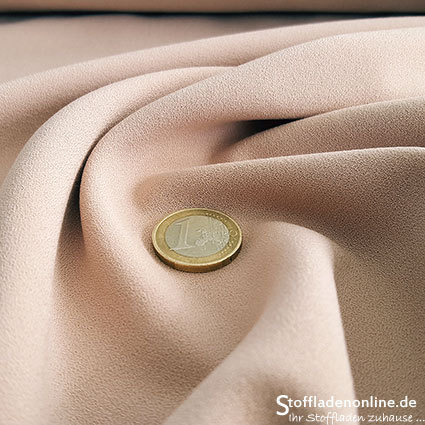 Stretch crepe fabric nude - Toptex