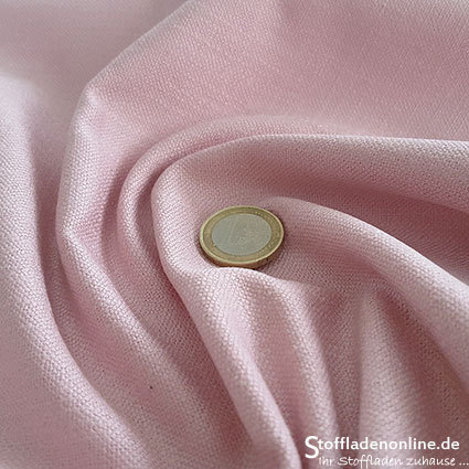 Stretch linen fabric soft rose