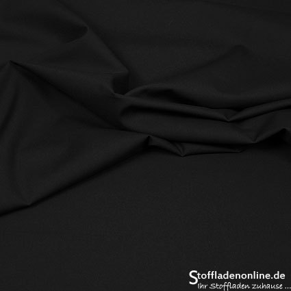 Stretch poplin fabric black