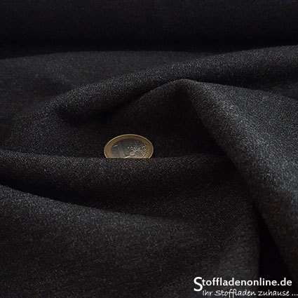 Heavy jersey fabric dark grey melange