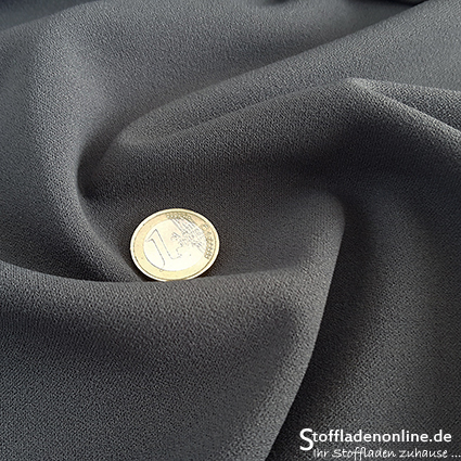 Jersey crepe fabric dark grey