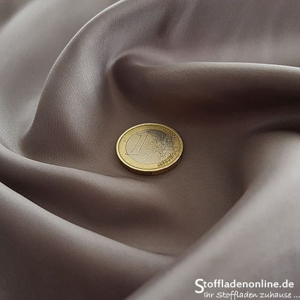 Cupro lining fabric taupe - Bemberg