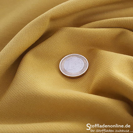 Heavy jersey fabric honey yellow