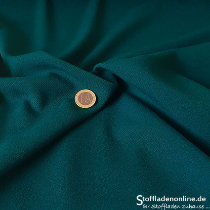Stretch gabardine blend fabric petrol