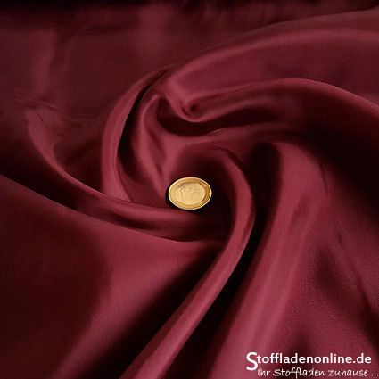 Stretch cupro lining burgundy red - Bemberg