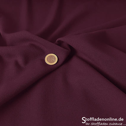 Stretch gabardine fabric burgundy red