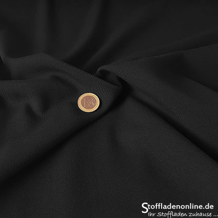 Stretch gabardine blend fabric black