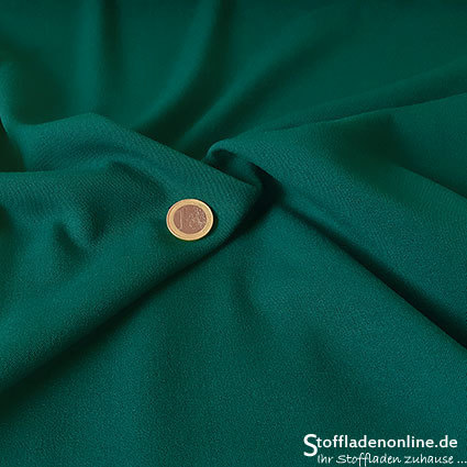 Stretch gabardine blend fabric dark green