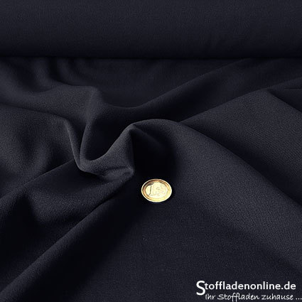 Stretch gabardine blend fabric dark blue