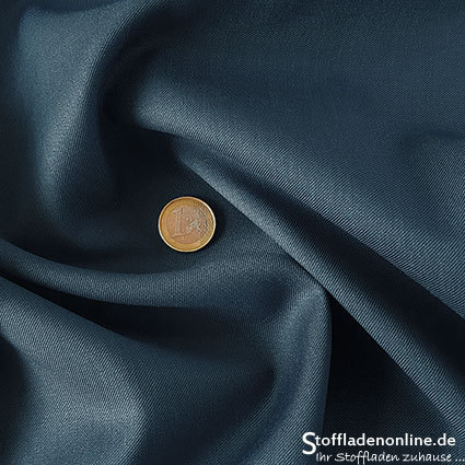 Wool blend gabardine fabric grey blue