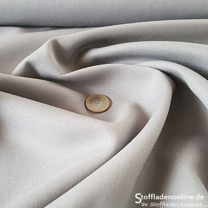 Wool blend gabardine fabric light grey