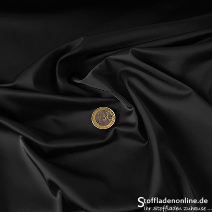 Stretch satin fabric black - Toptex