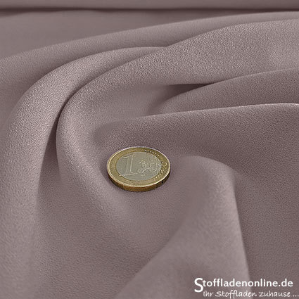 Stretch crepe fabric mauve - Toptex