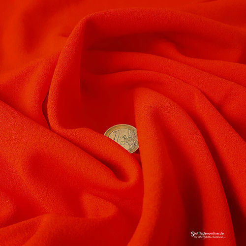 Jersey crepe fabric red