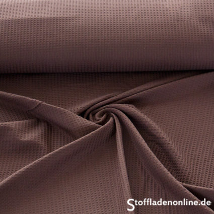 Remnant piece 242cm | Waffle fabric dark brown