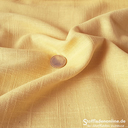 Woven viscose linen fabric soft yellow
