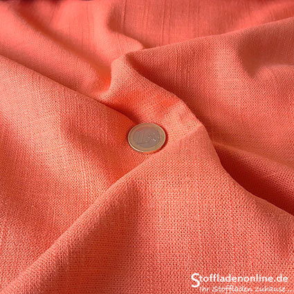 Woven viscose linen fabric soft coral