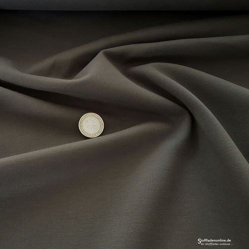 Remnant piece 65cm | Heavy jersey fabric olive grey