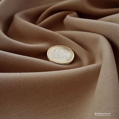 Remnant piece 58cm | Heavy jersey fabric camel