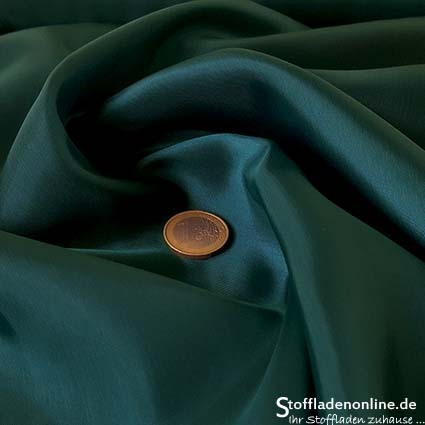 Cupro lining fabric teal green - Bemberg
