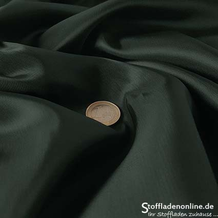Stretch cupro lining dark green - Bemberg