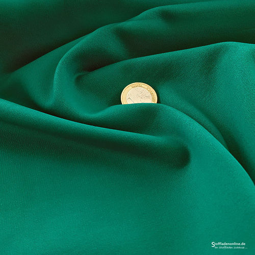Remnant piece 108cm | Heavy jersey fabric emerald green