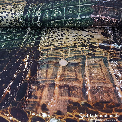 "Stretch cotton fabric satinized ""Madina"""
