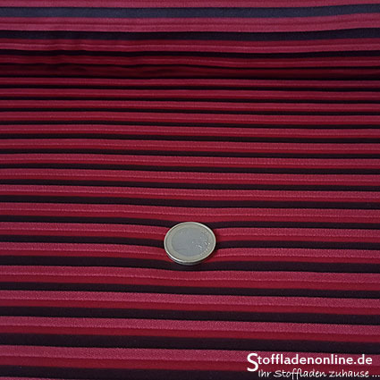 "Stretch pleated fabric ""Indira"" red - La Maison Victor"