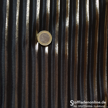 "Stretch pleated fabric ""Indira"" gold - La Maison Victor"