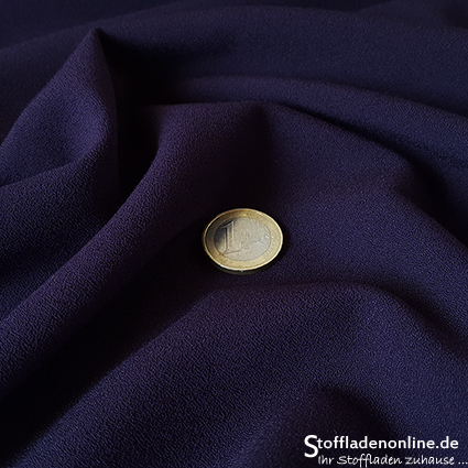 Stretch crepe fabric violet - Toptex