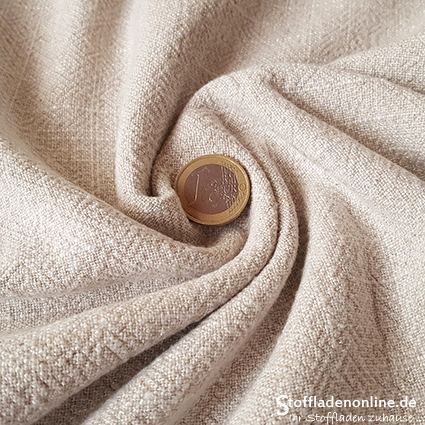 Viscose linen bio enzyme washed natural