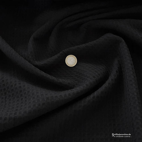 Remnant piece 300cm | Waffle fabric black
