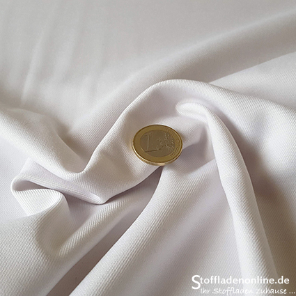 Stretch bamboo gabardine white