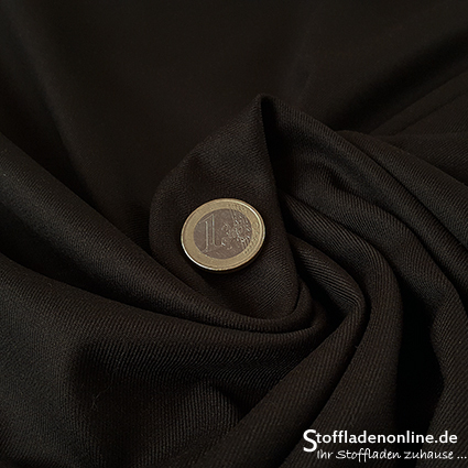 Stretch bamboo gabardine black