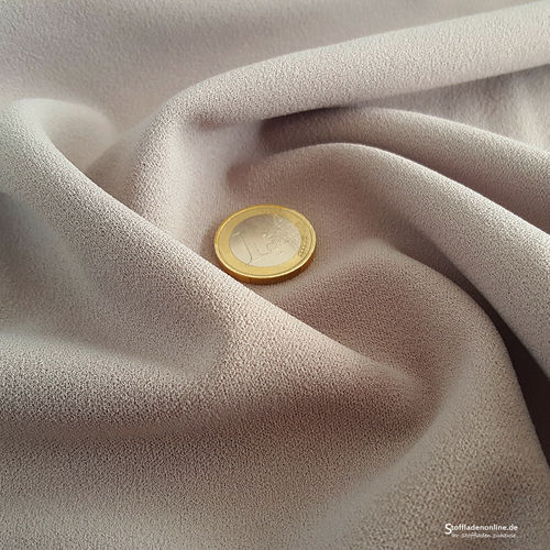 Remnant piece 95cm | Jersey crepe fabric beige