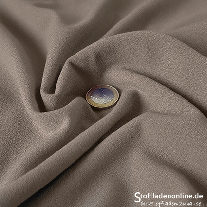 Stretch crepe fabric stone grey - Toptex