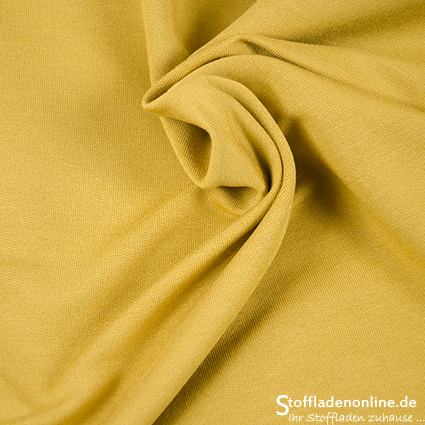 Modal sweat jersey fabric honey yellow - Hilco