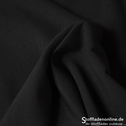 Modal sweat jersey fabric black - Hilco