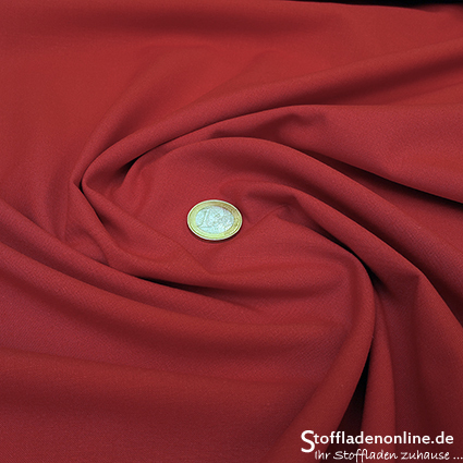 Organic cotton poplin passion red - Toptex