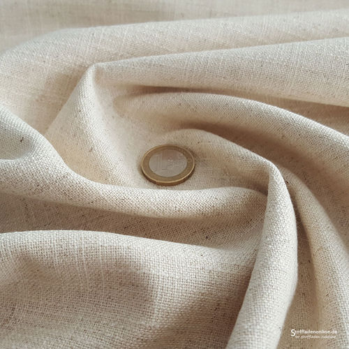 Remnant piece 116cm | Stretch linen fabric natural