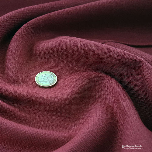 Remnant piece 45cm | Stretch linen fabric burgundy red