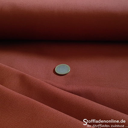 Fine woven stretch cotton twill rust brown