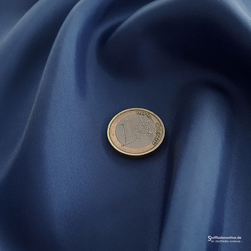 Remnant piece 75cm | Cupro lining fabric dark jeans blue - Bemberg