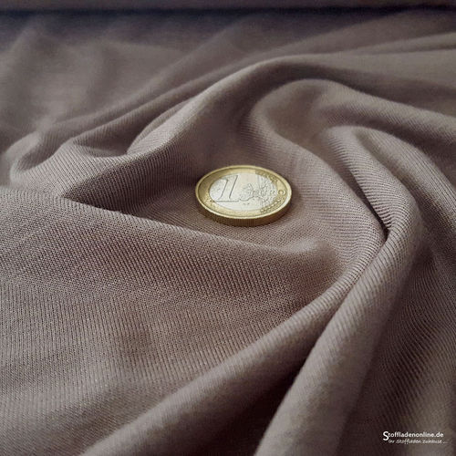 Remnant piece 112cm | Bamboo jersey fabric taupe - Toptex