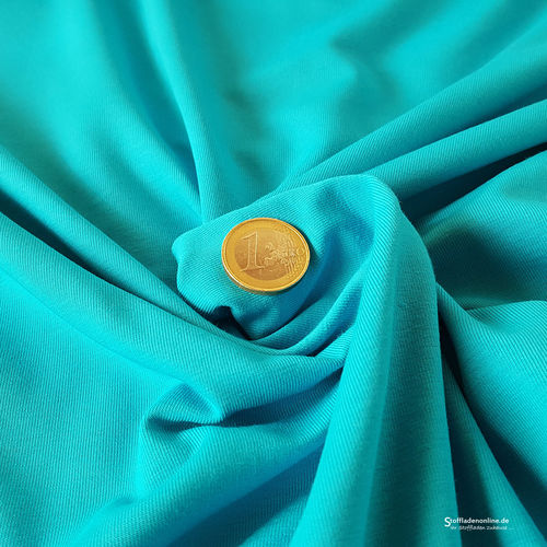 Remnant piece 133cm | Cotton jersey fabric turquoise - Toptex