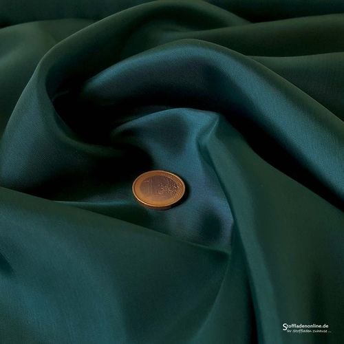Remnant piece 73cm | Cupro lining fabric teal green - Bemberg