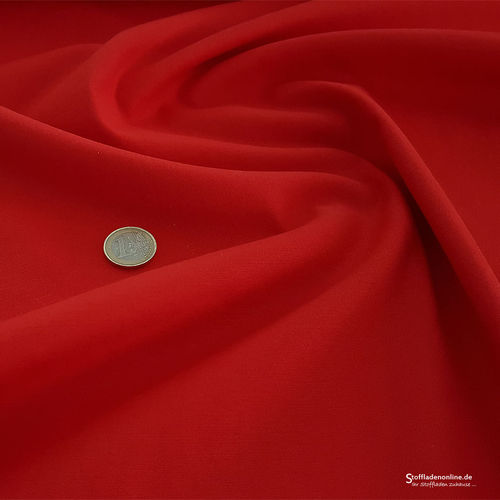 Remnant piece 77cm | Fine woven stretch cotton twill red