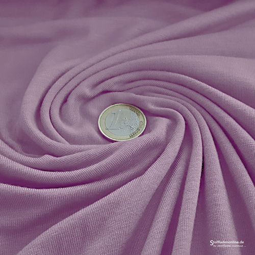 Remnant piece 115cm | Bamboo jersey fabric soft lavender - Toptex