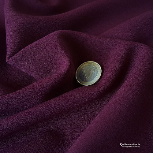 Remnant piece 127cm | Stretch crepe fabric middle violet - Toptex