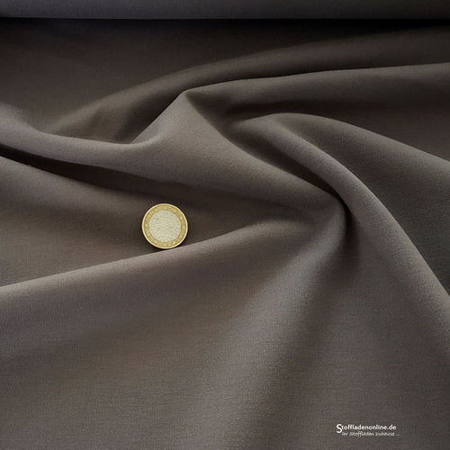 Remnant piece 42cm | Heavy jersey fabric grey brown